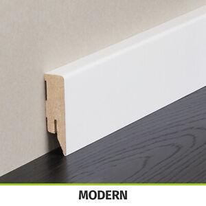 HORI Sockelleiste weiß Fußleiste Modern foliert MDF-Träger 250 cm