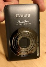 Canon Powershot Elph 100 HS Digital Cam. Gray 12.1 mp, 2 batteries,charger,case