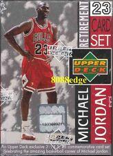 1999 UPPER DECK MICHAEL JORDAN RETIREMENT FACTORY SEALED BOX SET- 23 JUMBO CARDS