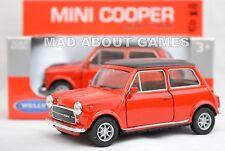 MINI COOPER 10,5 cm Opening Doors Pull Back & Go Diecast Classic Red