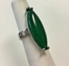Sterling Silver Ring with Green Aventurine Stone size (5)