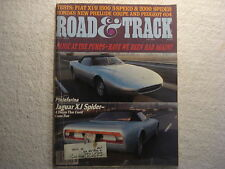 Road & Track 1979 May Jaguar XJ Spider Fiat Honda VW Rabbit Chevette Datsun