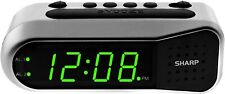 Sharp Electric Digital Dual Alarm Clock LED Large Display Battery Backup Snooze