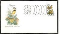 US SC # 1989 State Birds And Flowers ( Oregon ) FDC .HF Cachet . 1