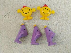Arby's Mr. Men, Little Miss Toys: Little Miss Sunshine, Mr. Rush, PVC figurines