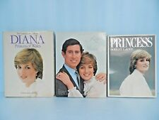 PRINCESS DIANA Memorabilia Lot,3 Books, PRINCESS~82',ROYAL WEDDING& of WALES~82'
