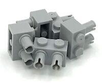 Lego 5 New Light Bluish Gray Brick Modified 1 x 2 Pins Pieces