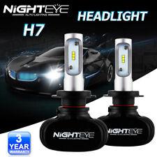 NIGHTEYE H7 LED Headlight Bulbs Conversion Kit White Beam Fog Light 8000LM 6500K