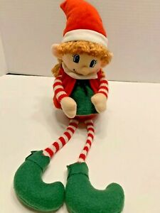 Sitting Girl Elf Plush with Moveable Arms- Hobby Lobby