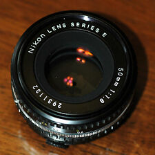Nikon Series E 50mm f1.8 MF AIS lens, in used by very good condition