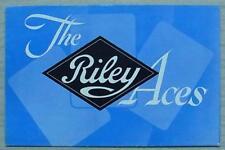 RILEY ACES 1 ½ & 2 ½ LITRE Car Sales Brochure March 1950 #23/3(64346)3/50-25