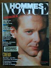 VOGUE HOMMES 89 Mai 1986 Mickey Rourke Mode