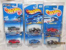 Hot Wheels Set of 6 Die Cast Metal Porsche Cars-NIB&New in Factory Pkg