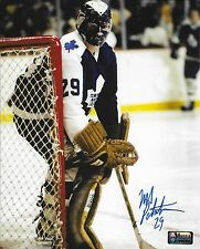 "Mike Palmateer Toronto Maple Leafs Autographed 8"" x 10"" Photograph (early mask)"
