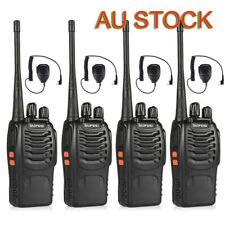 4X Baofeng BF-888S 400-470MHz 2-way Radio Walkies Talkies + Handheld Mic