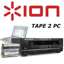 ION Audio Tape 2 PC DIgital Cassette Deck Conversion System w/ RCA & USB Archive