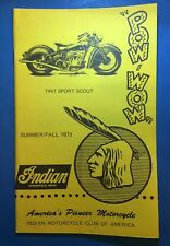 Indian Motorcycle Club Of America POW WOW Pub Summer/Fall 1973