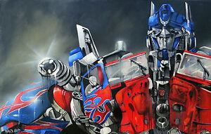 A0 POSTER  ANDY BAKER STREET optimus transformer ART GRAFFITI painting