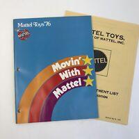 1976 Mattel Toy Fair Catalog Trade Magazine Price List Barbie Hot Wheels Big Jim