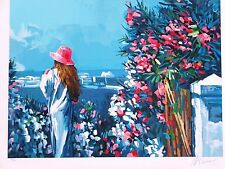 "Nicola Simbari ""Le Jardin"" Hand Signed & Numbered Serigraph on Paper Landscape"