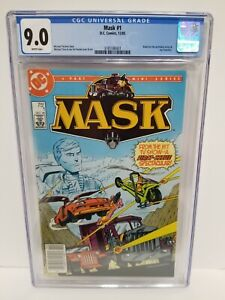 MASK #1 CGC 9.0 NM- NEWSSTAND! 1985 WP White Pages Based on Animated TV Series