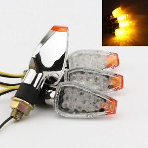 4x LED Turn Signals Indicator For Honda CB 450 650 750 900 599 919 CBF1000 600