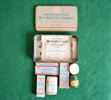VINTAGE  BOY SCOUT  - EARLY BAUER & BLACK FIRST AID KIT WITH CONTENTS