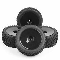 RC 4Pcs Front&Rear 1:10 Buggy Tires&Wheel 12mm Hex For HSP Off-Road Model Car
