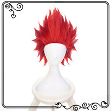Anime Cartoon Characters Kirishima Eijiro Wine Red Wig Hair Cosplay Exhib_cx