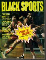 1974 (Apr.) Black Sports magazine Basketball, Pete Maravich, Lou Hudson, Atlanta