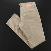 LEVI'S 511 White Tab Beige Denim Slim Straight Pants Mens W30 L32