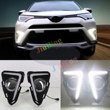 For Toyota RAV4 2016-2018 DRL Daytime Running Light LED Lamp White Fog Lights s