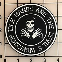 "Misfits Idle Hands 4"" Wide Multi-Color VInyl Decal Sticker - BOGO"