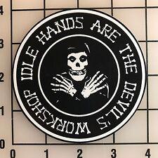 """Misfits Idle Hands 4"""" Wide Multi-Color VInyl Decal Sticker - BOGO"""