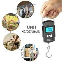 50KG LCD Digital Travel Portable Luggage Scale Hanging Scale Hook Weighing I8X0