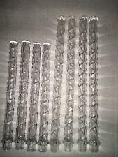 "WILTON Crystal Clear Twisty Plastic Wedding Cake Pillars Columns 7"" & 9"" Set 8"