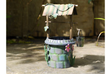FAIRY WISHING WELL METAL HAND PAINTED GARDEN DECORATION ORNAMENT
