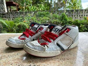 """Osiris South Brox Low Size 11 Used TRASHED Shoes """""""