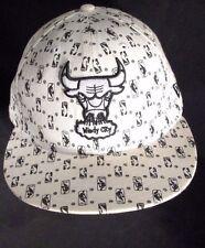 "Rare ~ ""Chicago Bulls"" ""WINDY CITY"" NBA New Era Hard Wood Classics Hat Cap 7 3/8"