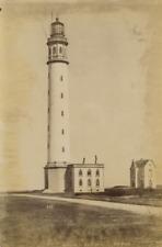 Belgique Ostende Le Phare Vintage Print Tirage albuminé  13x18  Circa 1880