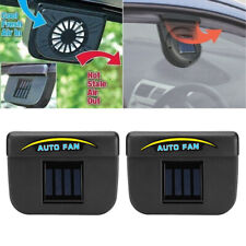 2pcs Portable Solar Power Car Window Auto Air Vent Cooling Fan Cooler Kit