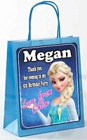 PERSONALISED FROZEN BIRTHDAY PARTY GIFT BAGS (SOLD IN PACKS)