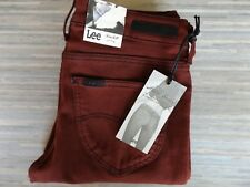 Ladies Lee Scarlett Skinny Fitting Stretch Deluxe Burnt Orange Jeans W27 L31