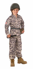 Kids Desert Soldier Military Army Costume Camouflage  Size Medium 8-10