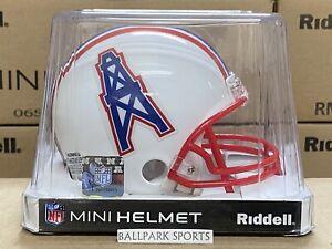 HOUSTON OILERS (1981-96 Throwback) Riddell VSR4 Mini Helmet (NEW IN BOX)