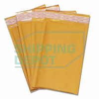 """250 #00 5x10 Kraft Bubble Mailers Self Seal Padded Envelopes 5""""x10"""" Secure Seal"""