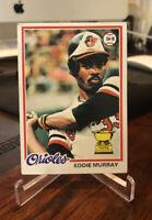 1978 Eddie Murray Topps Rookie Card Orioles HOFer