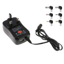 30W Power Supply Universal Adapter AC/DC 3V/4.5V/6V/7.5V/9V/12V Adjustable UK
