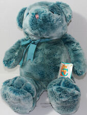Chosun Large BLUE TEDDY BEAR Wearing BOW VERY SOFT FUR Stuffed Plush Animal TOY