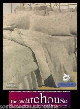 POLYCOTTON Beige Brown Leaf 250TC QUEEN QUILT COVER DUVET SET + 2 PILLOW CASES